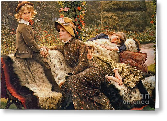 Garden Bench 1882 Greeting Card by Padre Art