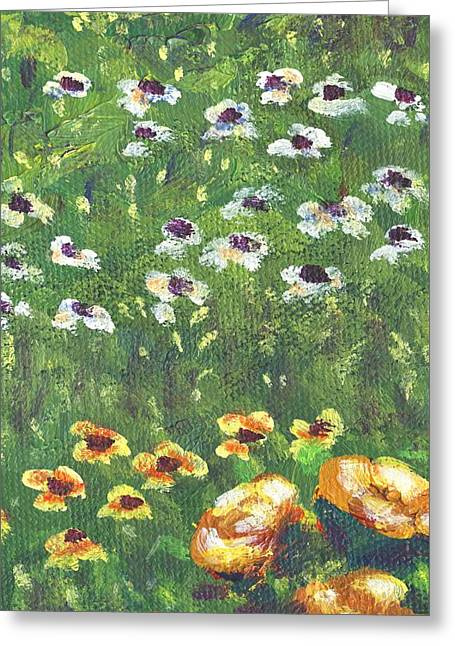 Flowers Greeting Cards - Garden Bloom part b Greeting Card by Linda Mears