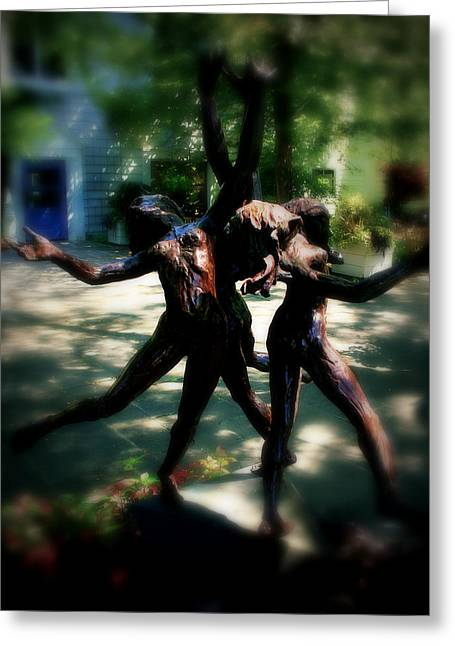 Dancer Pictures Greeting Cards - Garden dance Greeting Card by Perry Webster