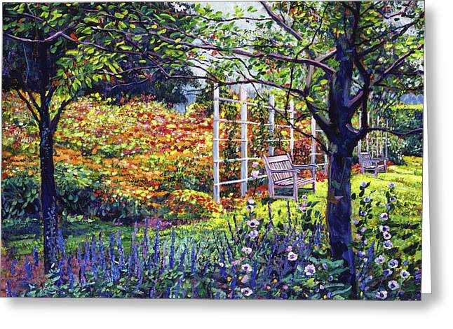 Garden for Dreaming Greeting Card by David Lloyd Glover