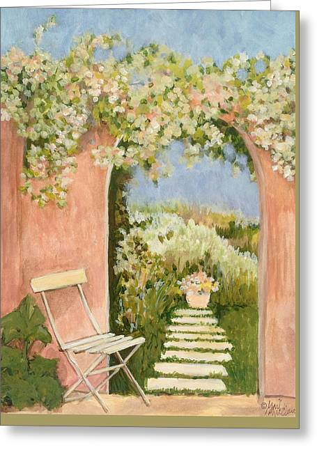 Garden Gate 1 Greeting Card by Gail McClure