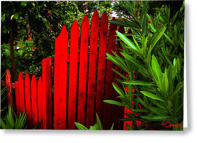 Forest. Photograph. Print. Texture. Digital Art. Canvas. Poster. Nature Greeting Cards - Garden Gate Greeting Card by Ahmed Darwish