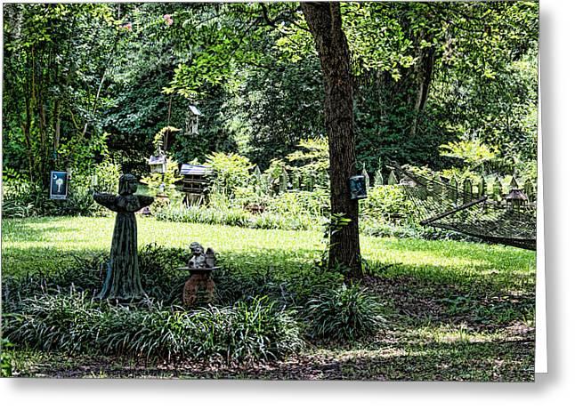Garden Statuary Greeting Cards - Garden Gathering Greeting Card by Ed Waldrop