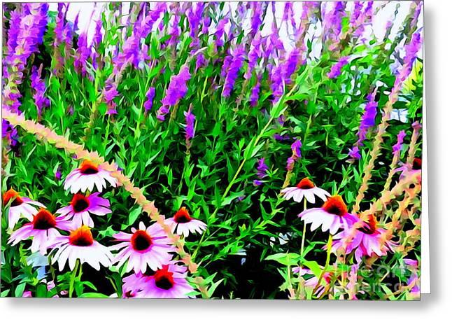 Floral Digital Art Greeting Cards - Garden Glory Greeting Card by Ed Weidman