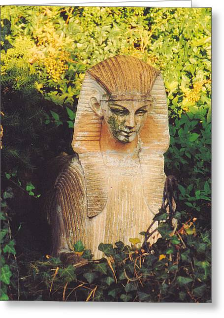 Garden Statuary Greeting Cards - Garden Guardian Greeting Card by Jan Amiss Photography