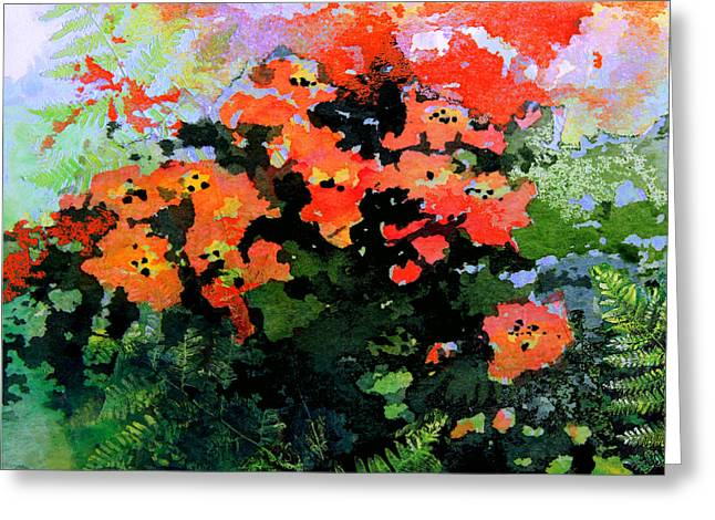Floral Artist Greeting Cards - Garden Impressions Greeting Card by Hanne Lore Koehler