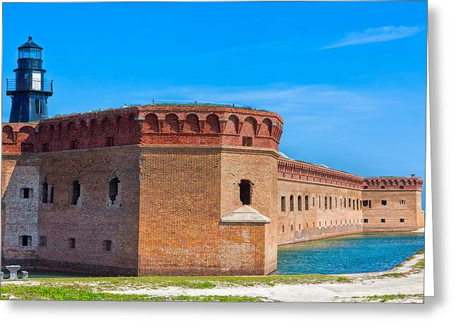 Dry Tortugas Greeting Cards - Garden Key Fort Jefferson Greeting Card by John Bailey