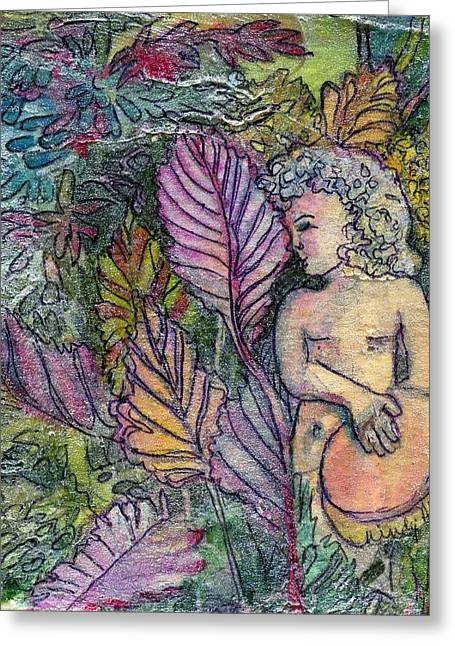 Angel Greeting Cards Greeting Cards - Garden Muse Greeting Card by Mindy Newman