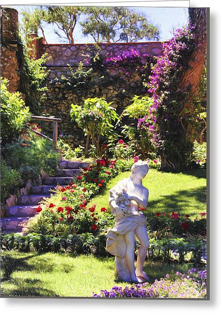 Stepping Stones Greeting Cards - Garden Of Augustus Greeting Card by Daphne Sampson