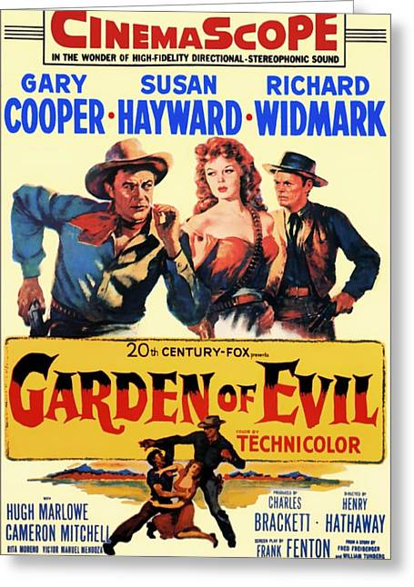 1950s Movies Greeting Cards - Garden of Evil 1954 Greeting Card by Mountain Dreams