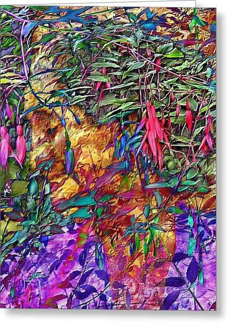 Fushia Greeting Cards - Garden of Forgiveness Greeting Card by Kurt Van Wagner