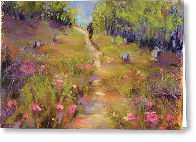 Garden Of Stone Greeting Card by Susan Jenkins