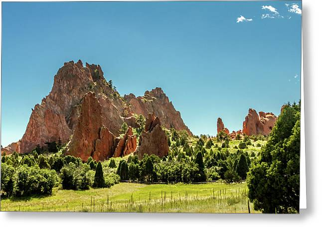 Garden Of The Gods II Greeting Card by Bill Gallagher