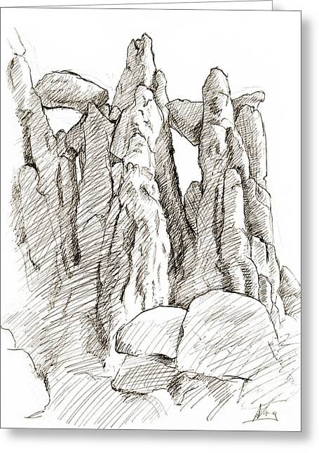 Garden Of The Gods Pulpit Rock Greeting Card by Adam Long