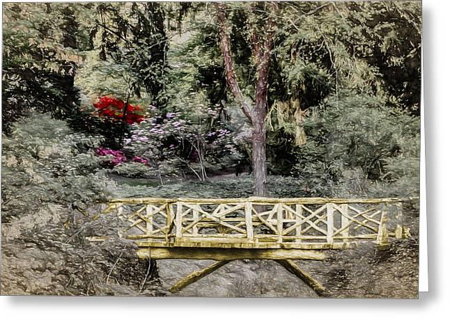 Appalachian Greeting Cards - Garden of the Golden Bridge Greeting Card by John Haldane