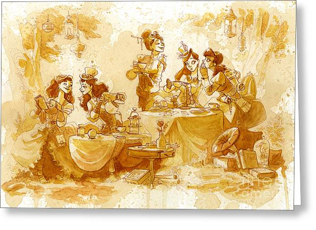 Garden Party Greeting Card by Brian Kesinger