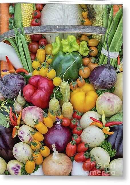 Garden Produce Greeting Card by Tim Gainey