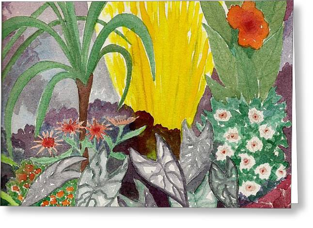 Garden scene Sep.2010 Greeting Card by Fred Jinkins