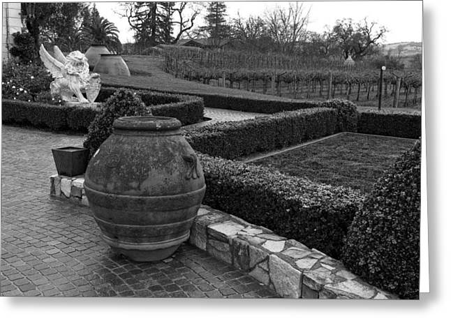 Garden Statuary Greeting Cards - Garden Statuary -del Dotto Estate Winery Greeting Card by Mountain Dreams