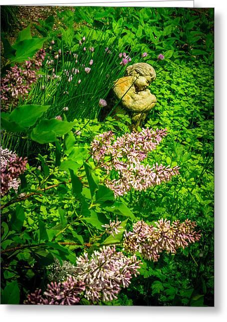 Garden Statuary Greeting Cards - Garden statuary Greeting Card by Gene Camarco