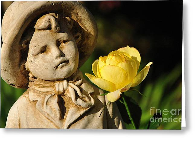 Garden Statue Greeting Card by Kaye Menner