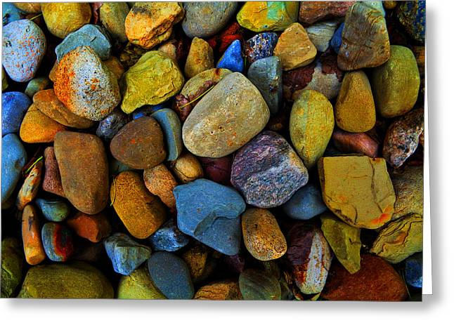 Bedroom Art Greeting Cards - Beach Stones Greeting Card by Jerod Scheiferstein