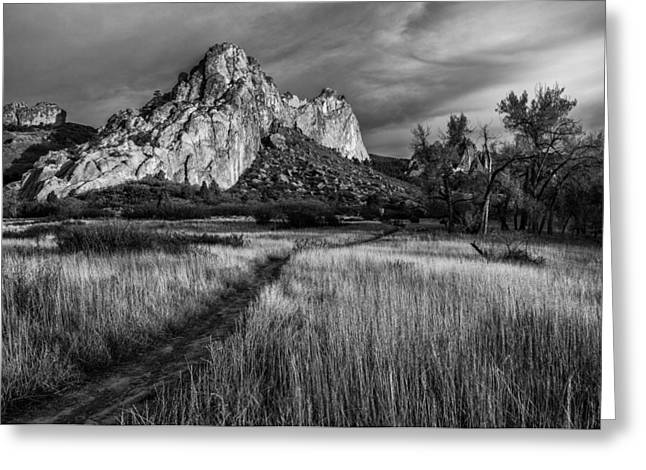 Garden Of The Gods Greeting Cards - Garden Walk Greeting Card by Darren  White