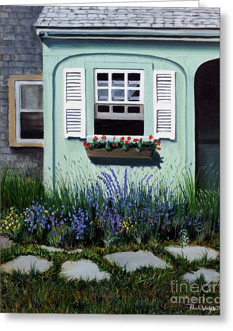Window Box Greeting Cards - Garden Window Greeting Card by Paul Walsh