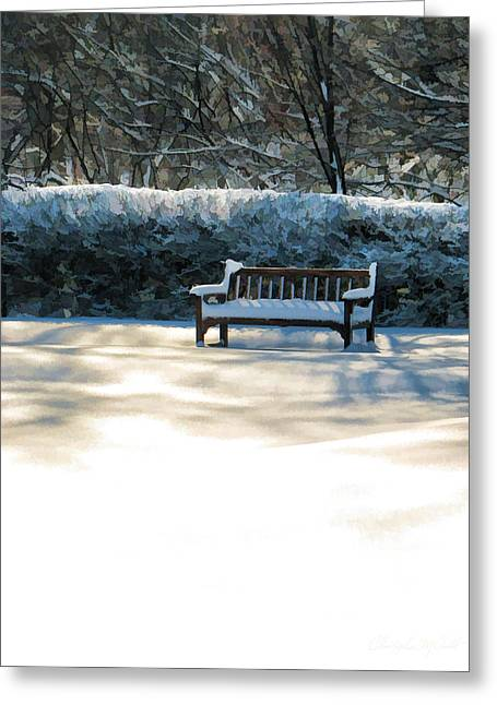 Winter Photos Paintings Greeting Cards - Garden Winter Solitude Greeting Card by Christopher Arndt