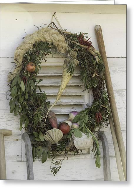 Gardeners Wreath Greeting Card by Teresa Mucha