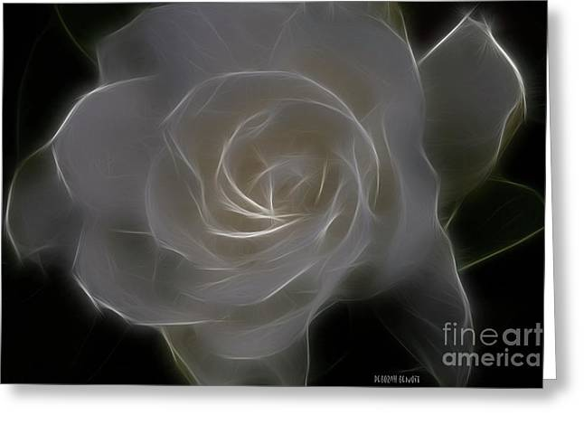 Gardenia Greeting Cards - Gardenia Blossom Greeting Card by Deborah Benoit