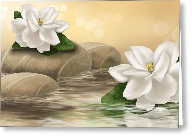 Gardenia Greeting Card by Veronica Minozzi