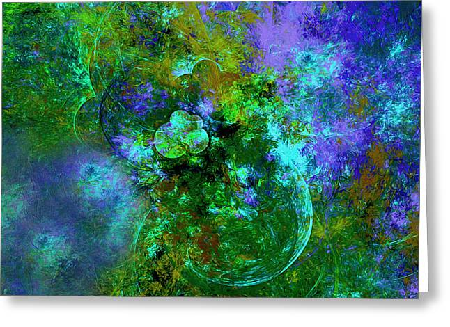 Gardens Of The Universe Abstract Moods Greeting Card by Georgiana Romanovna