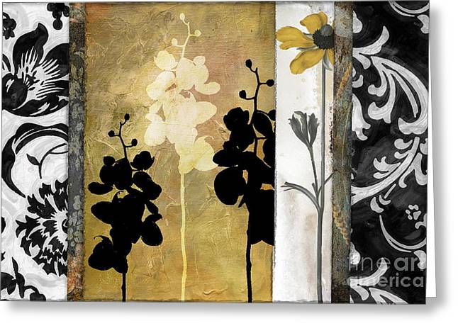 Flower Prints Greeting Cards - Gardenscape I Greeting Card by Mindy Sommers