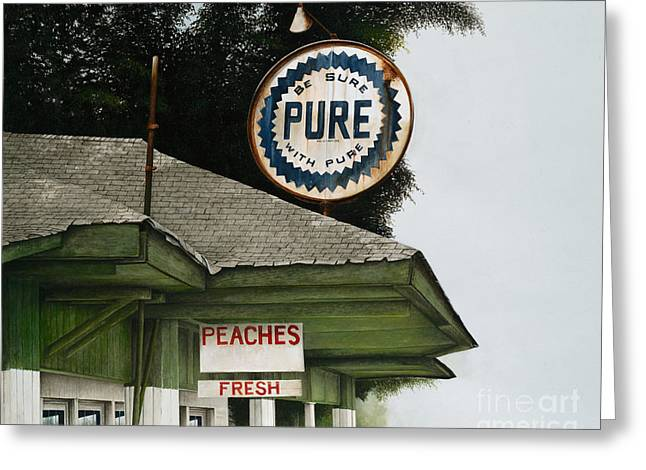 Gardner's Peaches Greeting Card by Mike England