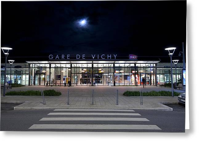 Vichy Greeting Cards - Gare de Vichy Greeting Card by Alexander Davydov