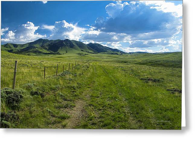 Garfield County Greeting Cards - Garfield Peak Wyoming in the Spring Greeting Card by Sam Sherman
