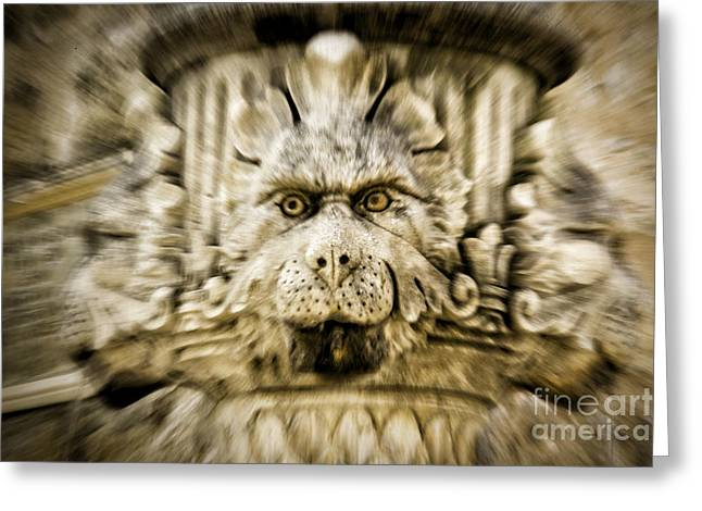 Gargoyle Type Face Greeting Card by Timothy Hacker