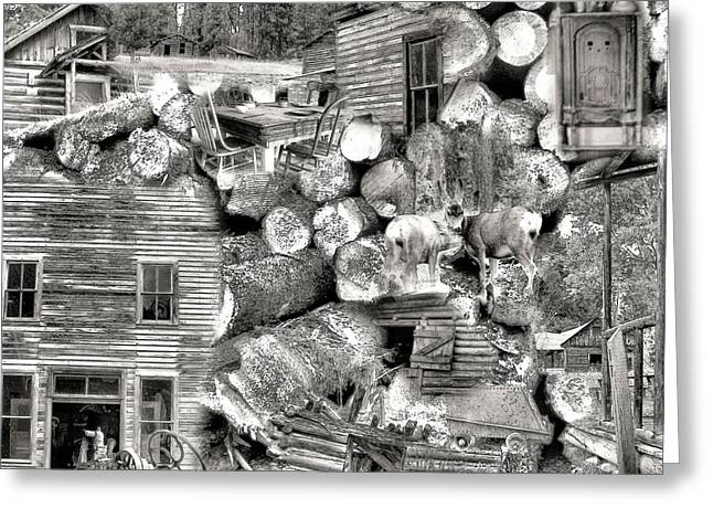 Mining Photos Digital Greeting Cards - Garnet Montana Greeting Card by Susan Kinney