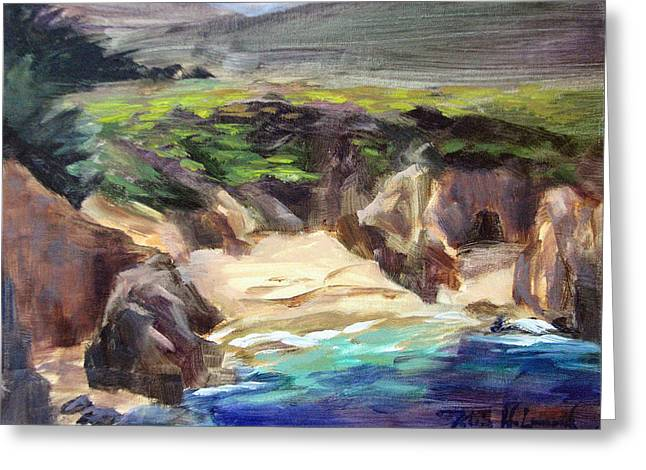 Garrapata Beach, Big Sur Greeting Card by Karin Leonard