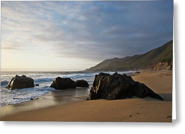 Big Sur Beach Greeting Cards - Garrapata Beach III Greeting Card by David Gordon