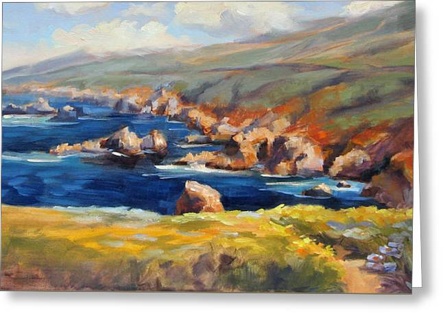 Big Sur Greeting Cards - Garrapata Spring Greeting Card by Karin  Leonard