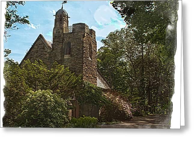 Keuka Greeting Cards - Garrett Memorial Chapel Greeting Card by Richard Engelbrecht