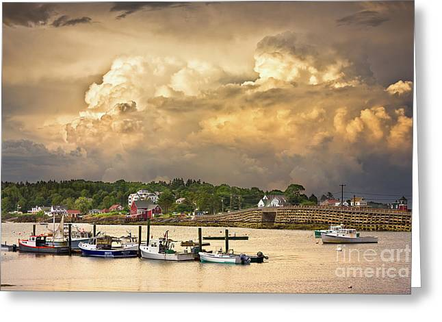 Garrison Cove Thunderstorm Greeting Card by Benjamin Williamson