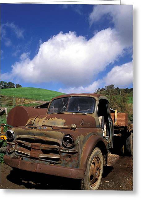 Old Trucks Greeting Cards - Garrods Old Truck Greeting Card by Kathy Yates