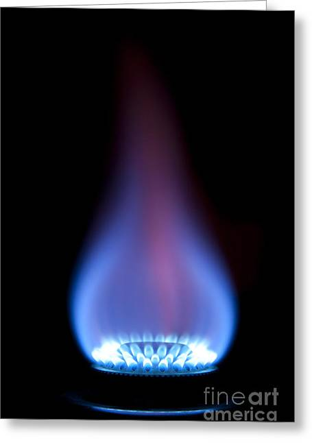 Gas Flame Greeting Card by Andy Smy
