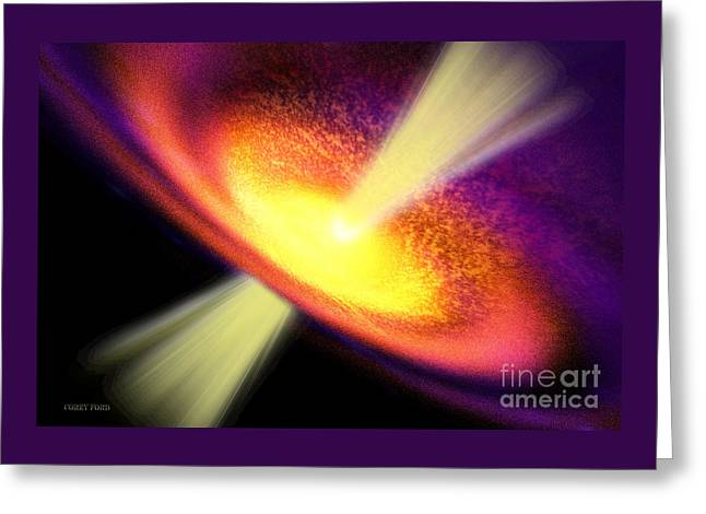 Gas Jet Greeting Card by Corey Ford