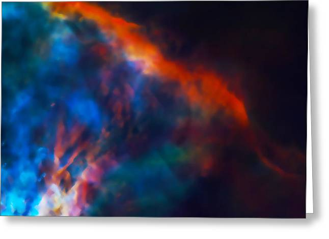 Star Hatchery Greeting Cards - Gas Plume Orion Nebula 2 Greeting Card by The  Vault - Jennifer Rondinelli Reilly