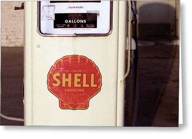 Gas Pump Greeting Card by Michael Peychich