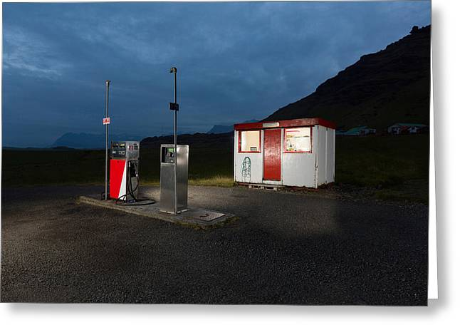 Gas Station In The Countryside, South Greeting Card by Panoramic Images